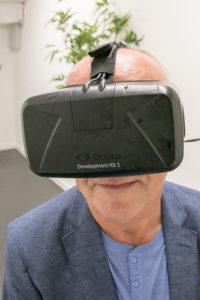 Wirtualny spacer gogle VR