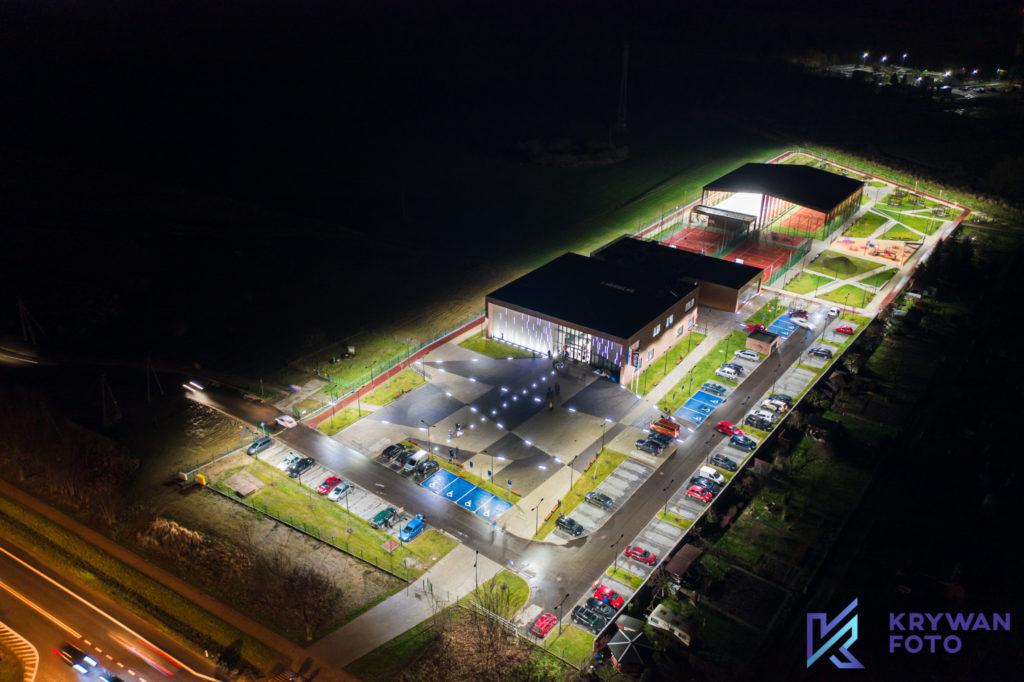GOKSIR, Przecław, WOŚP, Film z drona, Nocny film, zdjęcia z drona, filmowanie z Drona, Szczecin