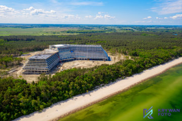 Hotel Gołębiewski, Hotel w Pobierowie, Dron Pobierowo, Gołębiewski, Fotografia hoteli i pensjonatów