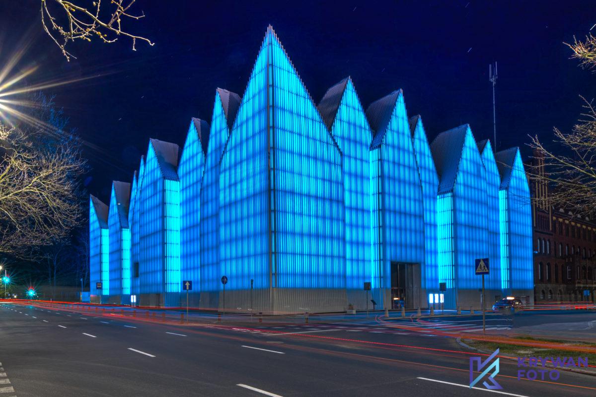 Niebieska filharmonia w Szczecinie