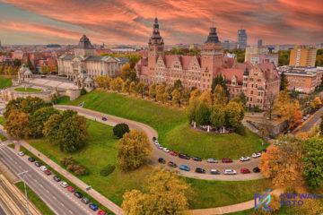 Szczecin, Urząd Wojewódzki w Szczecinie, fotografia z drona, fotograf dron, dron, zdjęcia z drona