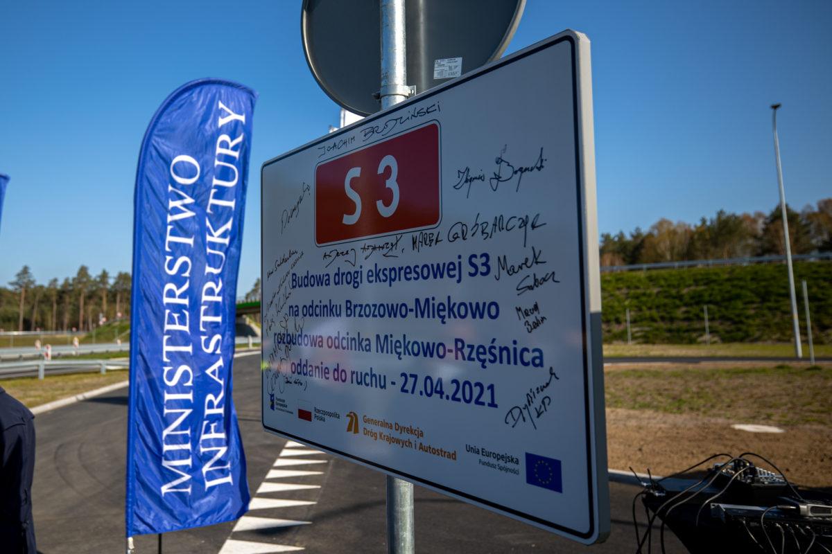Oficjalne otwarcie drogi ekspresowej S3